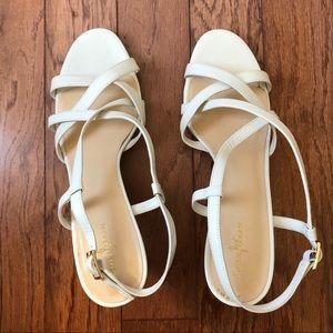 Cole Haan Bartlett White High Heel Sandals SZ 11